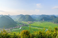 Mountain at Bac Son. Sunrise at Bac Son town, Lang son province, Vietnam Royalty Free Stock Photography