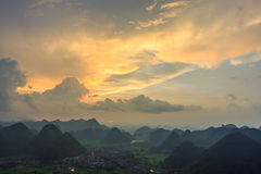 Mountain at Bac Son Stock Photography