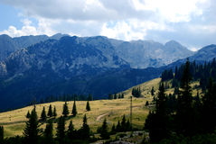 Mountain background Stock Photography