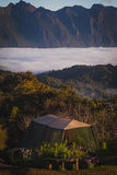 Mountain background. Campgrounds  thailand tent mountain mist Royalty Free Stock Image