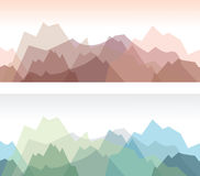 Mountain background Stock Image