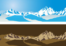 Mountain background vector Stock Image