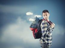 Mountain backpack Stock Photos
