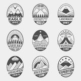 Mountain badge set2 Stock Photos