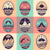 Mountain badge set2color1 Stock Photography