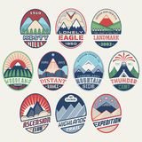 Mountain badge set2color Stock Images