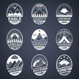 Mountain badge set2 white Royalty Free Stock Photos