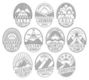 Mountain badges2 linear Stock Images