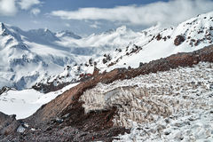 Mountain Baksan valley, Elbrus and Cheget, Russia. Royalty Free Stock Image