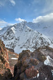Mountain Baksan valley, Elbrus and Cheget, Russia. Stock Photography