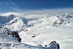 Mountain Baksan valley, Elbrus and Cheget, Russia. Stock Photos