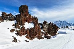 Mountain Baksan valley, Elbrus, Russia. Stock Images