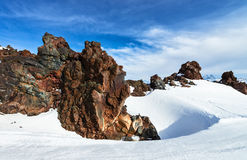 Mountain Baksan valley, Elbrus, Russia. Royalty Free Stock Photo