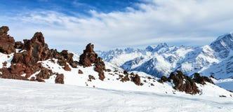 Mountain Baksan valley, Elbrus, Russia. Stock Photography