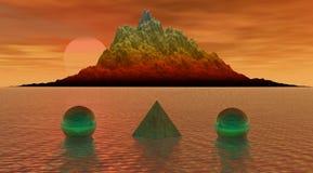 Mountain balls pyramid Royalty Free Stock Images