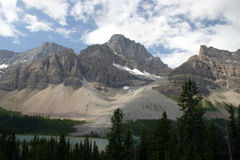 Mountain in Banff national park Royalty Free Stock Image