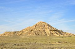 Mountain in Bardenas Stock Images
