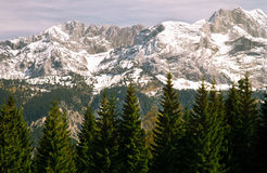 Mountain in a Bavarian Alps Stock Image
