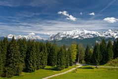 Mountain in a Bavarian Alps Royalty Free Stock Photo