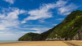 Mountain at beach on daylight stock footage