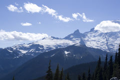Mountain with beautiful layers and clouds Royalty Free Stock Photography