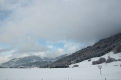 Mountain. Beautiful winter mountain in Austria Stock Image