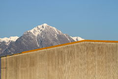 The mountain behind the wall Stock Photo