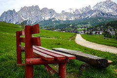 Mountain bench Royalty Free Stock Image