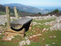 Mountain bench Stock Photo