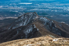 Mountain Beshtau at spring in Pyatigorsk, Russia Royalty Free Stock Photos