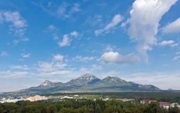 Mountain Beshtay. Mountain Beshtay against the blue sky. View from the side town of Pyatigorsk stock image