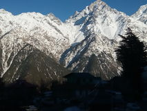 Mountain. Best mountain snow view royalty free stock image