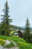 Bettmeralp village summer view (Switzerland) Stock Image