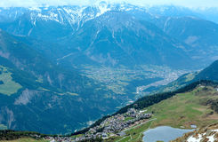 Mountain Bettmeralp village (Switzerland) Royalty Free Stock Image