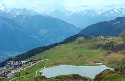 Mountain Bettmeralp village (Switzerland) Royalty Free Stock Photography