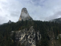 Mountain in the Bicaz Gorge Royalty Free Stock Photography