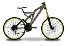 Mountain Bicycle, Color Illustration Stock Photography