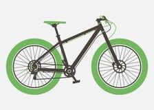 Mountain bicycle flat design. Retro design. Bicycle vintage style Stock Photo