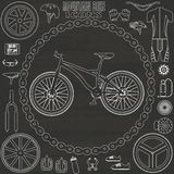 Mountain bicycle icon on chalk Royalty Free Stock Photography