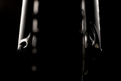 Mountain bicycle photography in studio, bike parts, Front damping Royalty Free Stock Photo