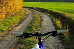 Mountain bicycle at sunny day Royalty Free Stock Images