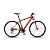 Mountain bicycle. On white background. Vector illustration stock illustration