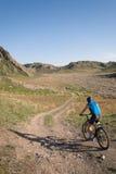 Mountain bicyclist Stock Photo