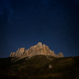 Mountain Big Thach and starry sky Royalty Free Stock Photography