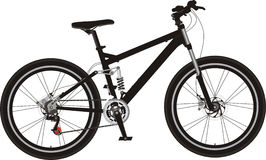 Mountain bike. Look from right side with newest technology and modern design Royalty Free Stock Photography