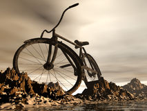 Mountain bike. The mountain bike fantasy landscape Royalty Free Stock Photo