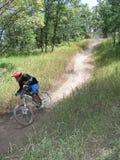 Mountain bike 18. Racing mountain bike zooming past 18 Royalty Free Stock Photo