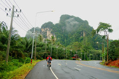 Mountain bike. Mountain scenery and is generally seen in Krabi.thailand stock photo