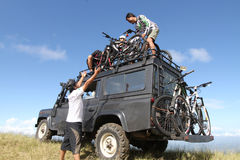 Mountain bike Fotografia Stock Libera da Diritti