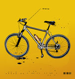 Mountain bike. Detailed illustration of a modern mountain bike Royalty Free Stock Images